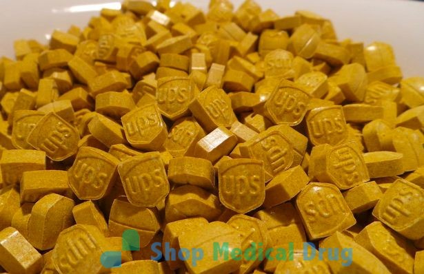 Yellow UPS Ecstasy / MDMA 220mg pills
